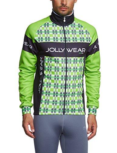Włoska stylowa zimowa kurtka rowerowa |  Jolly Wear Kubo  Tweed  WindTex