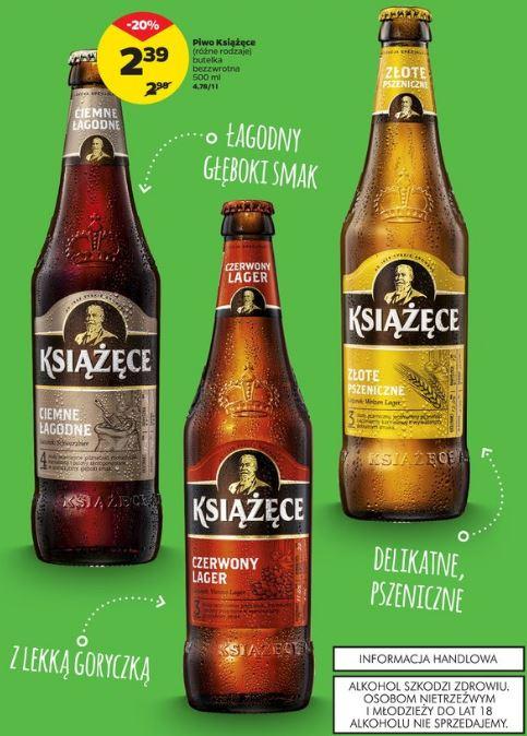 Piwo Książęce różne rodzaje 2,39/szt @ Netto