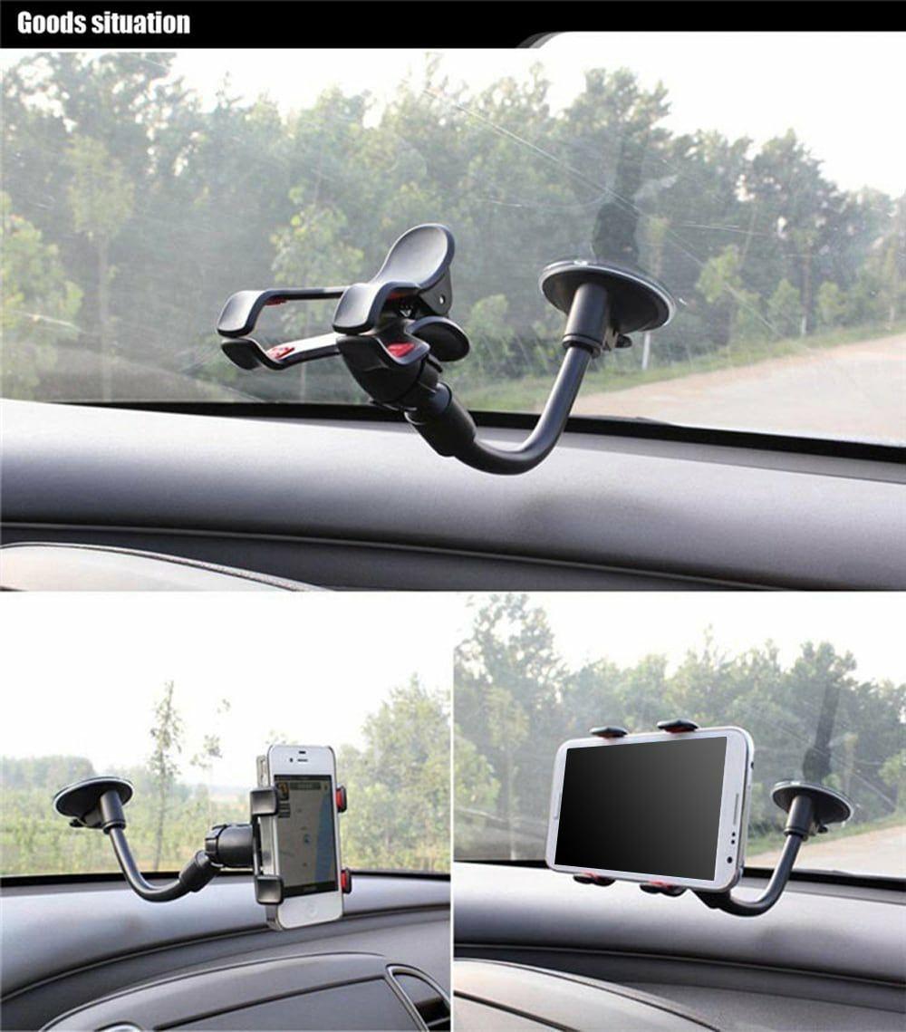 Uchwyt samochodowy z długim ramieniem na telefon