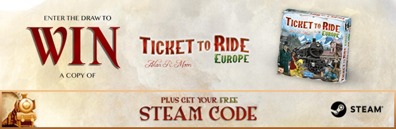 Ticket to Ride [PC, Steam] za darmo (cena regularna 9,99€)