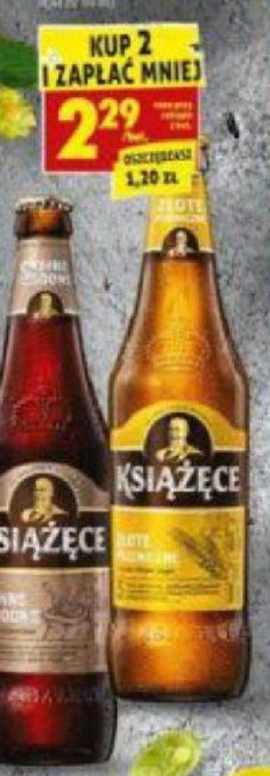Piwo książece 500ml 2.29 przy zakupie 2 sztuk @Biedronka