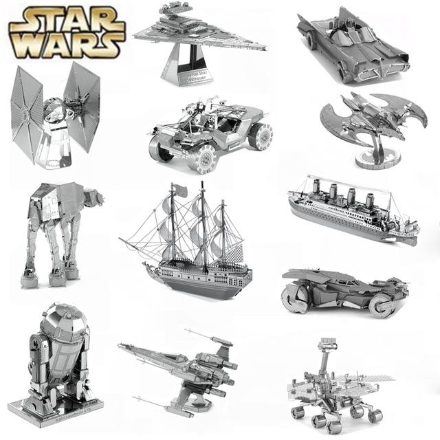 Metalowe figurki do składania STAR-WARS i inne