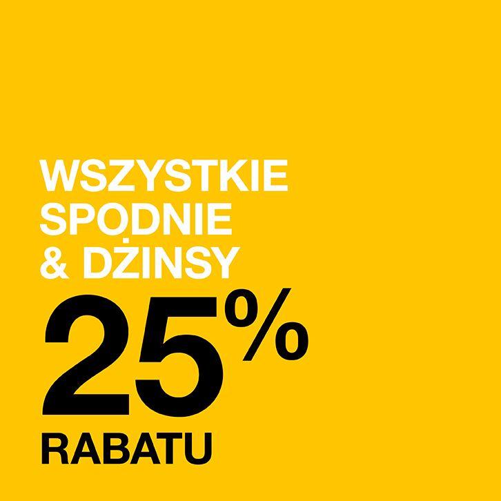 -25% na wszystkie spodnie i dżinsy @ Cubus
