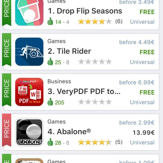 Aplikacja śledząca obniżki i darmowe aplikacje iOS