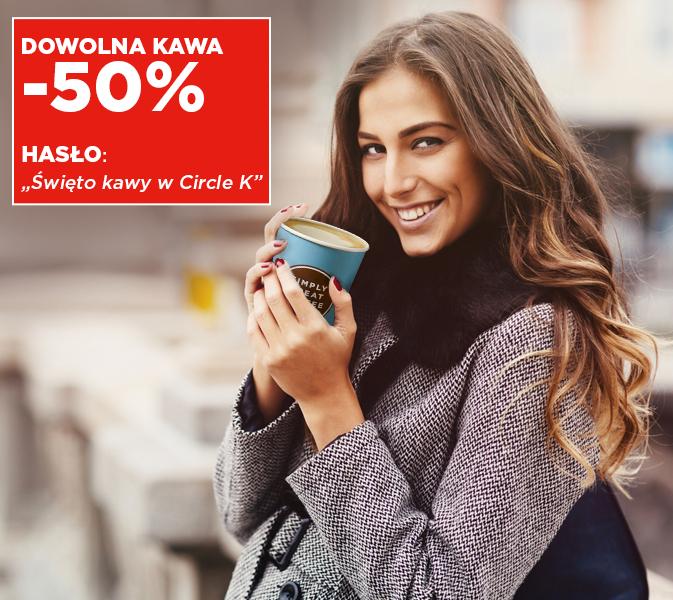 29 września-1 października - rabat 50% na wszystkie kawy na stacjach Circle K/Statoil
