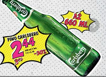 Piwo Carlsberg 0,66l (butelka) za 2,44zł @ Lidl