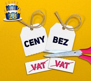 28 Urodziny Mango! Obniżamy ceny o wartość VAT!