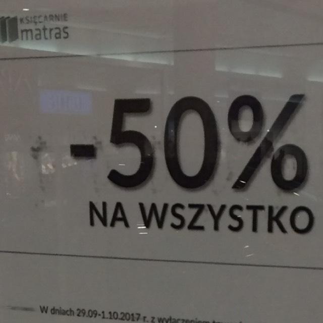 Księgarnie Matras -50% na wszystko! (stacjonarnie)