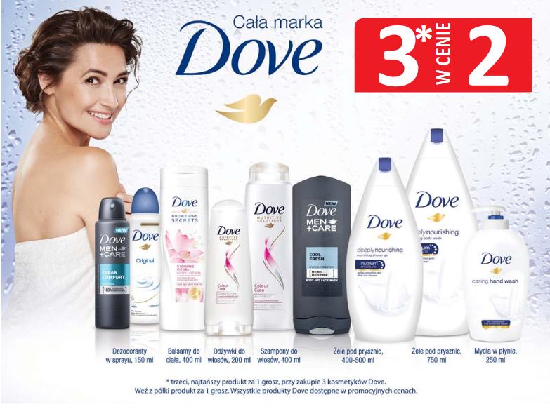 3 w cenie 2 na kosmetyki Dove @ Natura