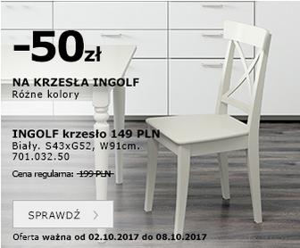 -50zł na krzesła INGOLF @ Ikea