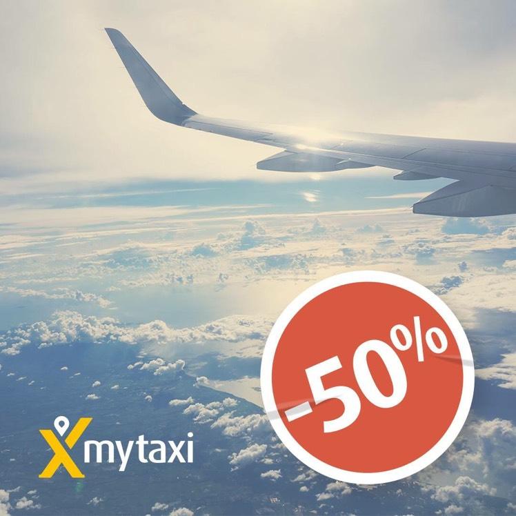 Mytaxi -50% na lotniska