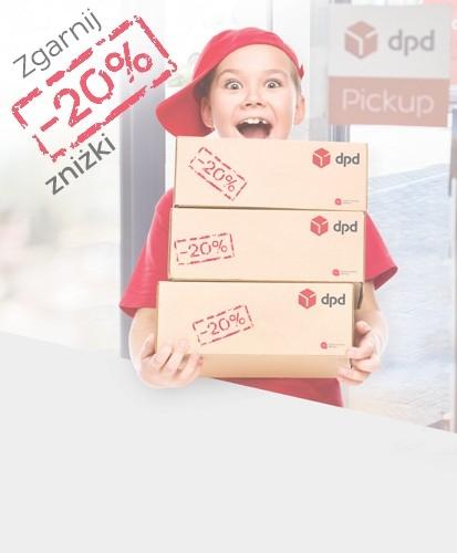 Kurier DPD -20%(ceny od 11.19zł) przy nadaniu online z dostarczeniem paczki do  DPD Pickup +12.8zł cashback Planet Plus