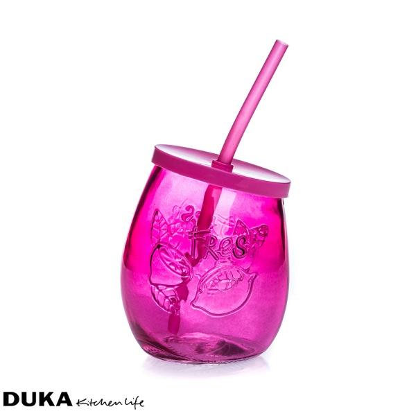 Szklanka ze słomką 400 ml