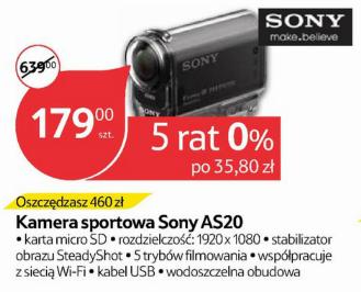 (AKTUALIZACJA) Kamera sportowa HD Sony AS20 za 179zł (460z taniej) @ Tesco