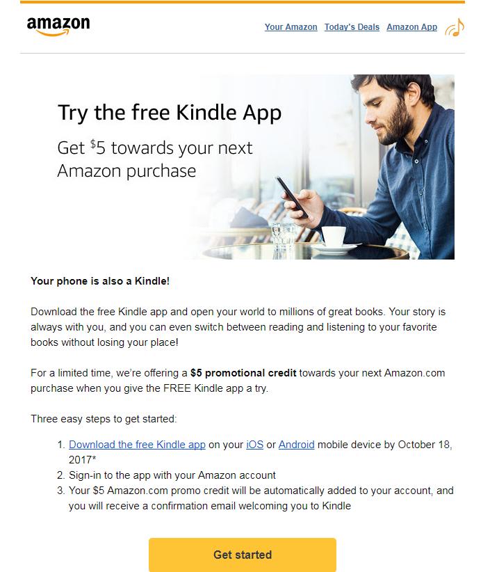 Darmowe 5$ od Amazon Kindle (Aktualizacja)