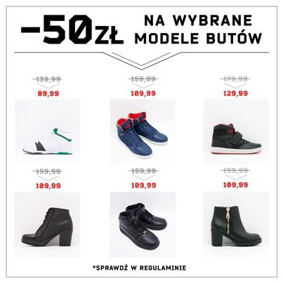 50zł rabatu na wybrane modele butów @ Cropp