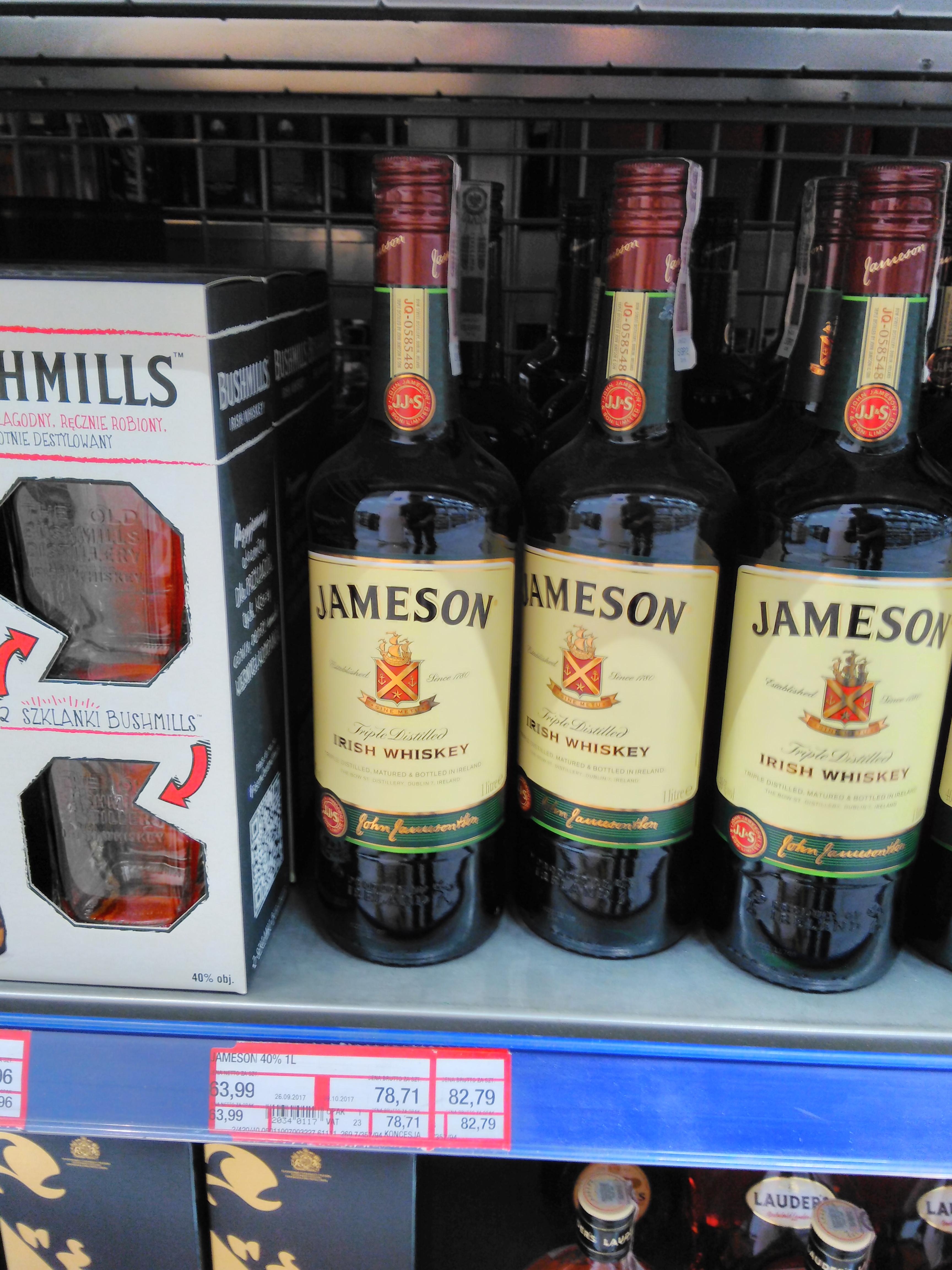 Irlandzka Whiskey Jameson 1l za 82,79 w Makro