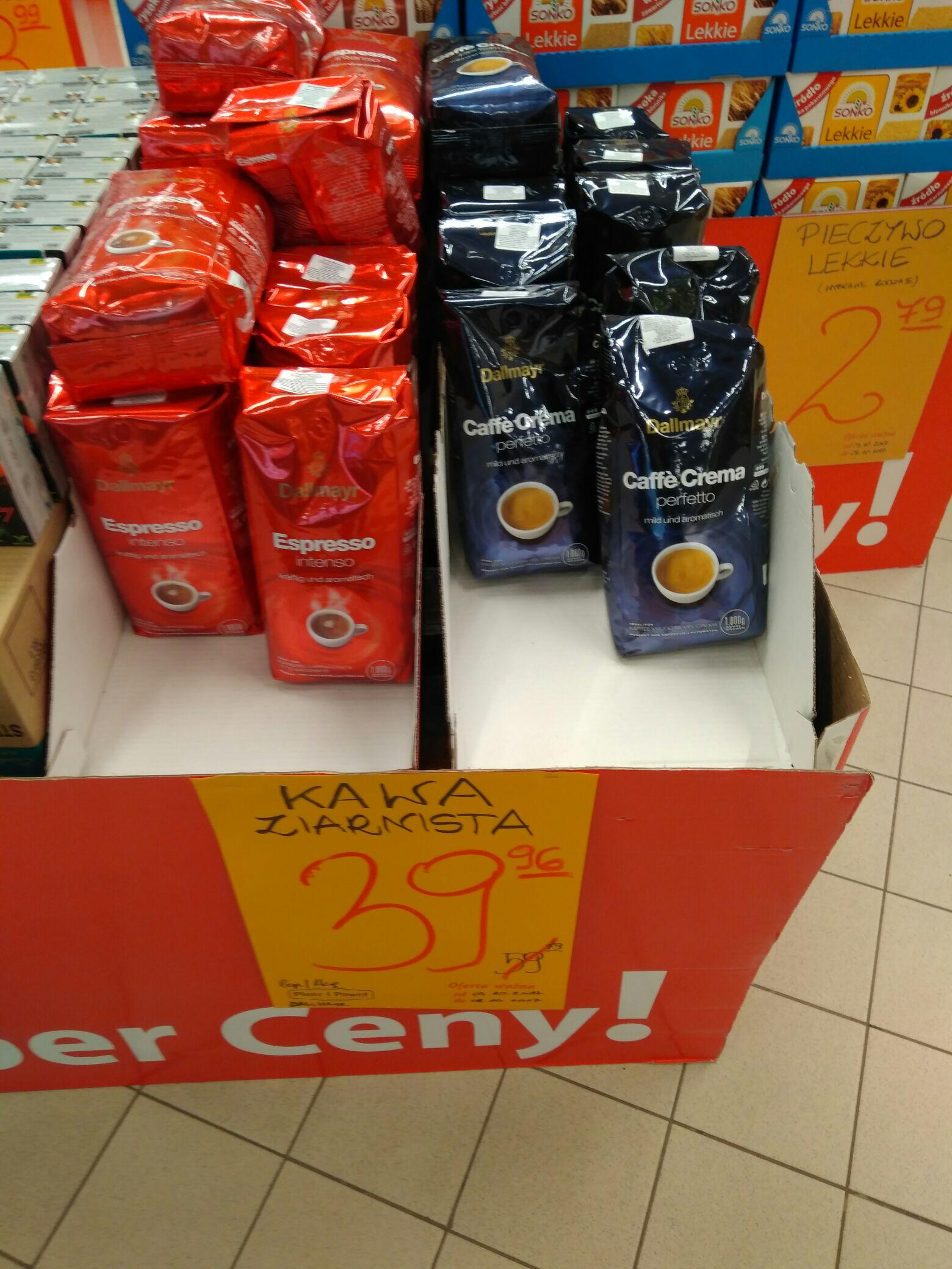 Kawa Dallmayr Espresso Intensa 1kg ziarno i Dallmayr Caffe Crema Perffecto 1kg ziarno