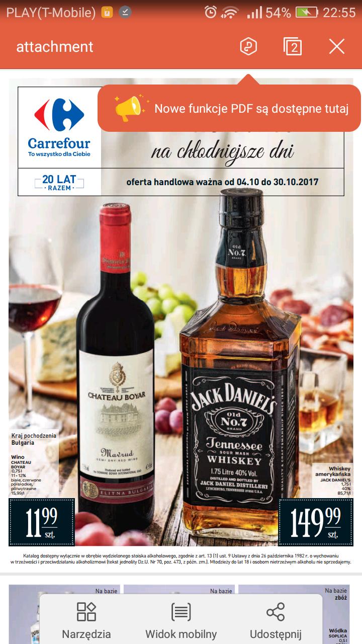 Carrefour, Gazetka alkohole, do 30 października