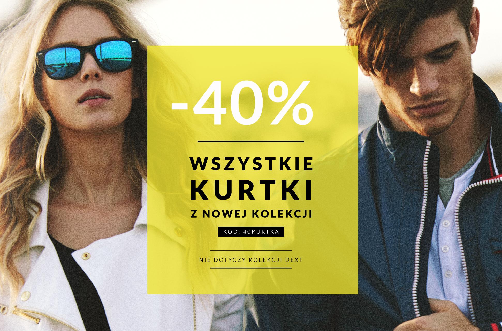 -40% na wszystkie kurtki z nowej kolekcji @ Diverse
