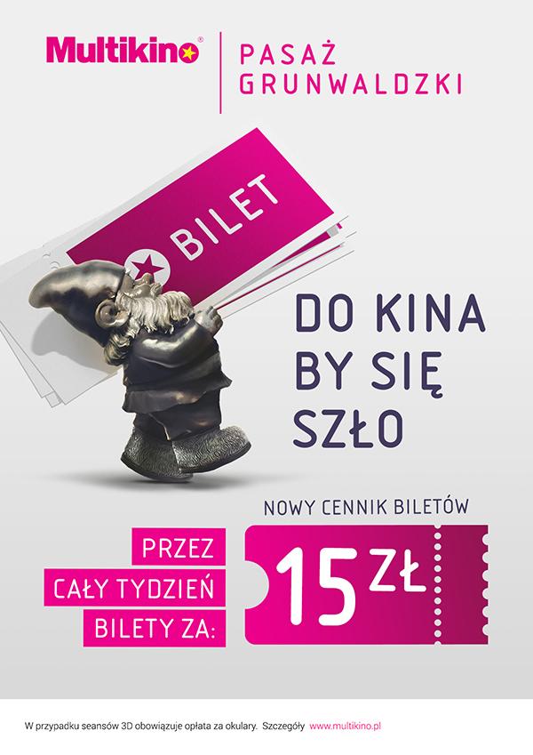 Bilety po 15zł  do piątku (do 13.10) @ Multikino (wrocław, Gdańsk, Katowice, Warszawa Targówek)