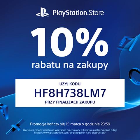10% RABATU na zawartość koszyka @ Playstation Store