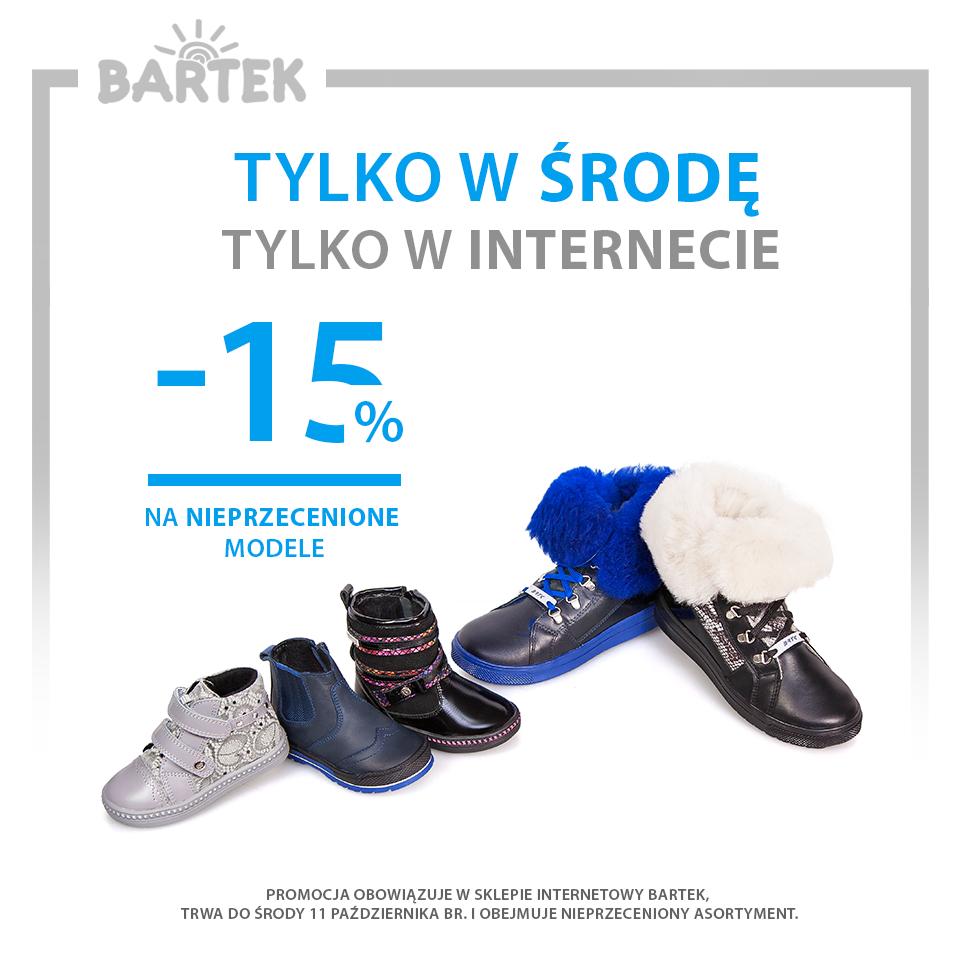 15% rabatu na nieprzecenione buty @ Bartek