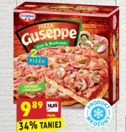 2x Pizza Guseppe z szynką i pieczarkami Biedronka