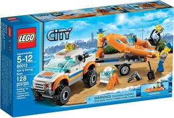 LEGO City 60012 - Wóz terenowy i łódź nurków - Klockowo