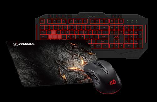 Zestaw ASUS Cerberus (klawiatura MK2 LED, mysz, podkładka) za 349zł @ Zadowolenie