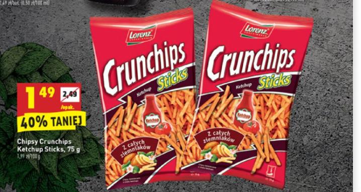 Biedronka. Crunchips sticks 1,49 zł (40% taniej)