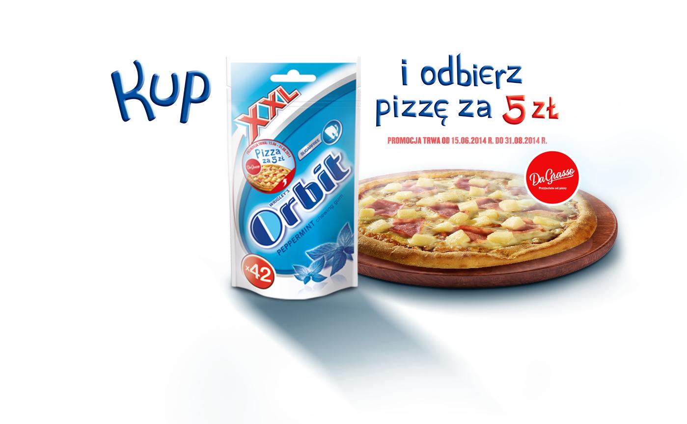 Kup gumy Orbit i jedz pizze za 5 zł @ Da Grasso