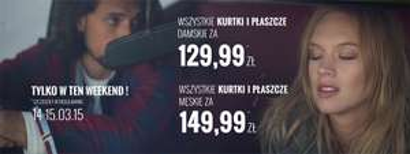 Jednakowe ceny na kurtki/płaszcze -129,99zł (damskie), 149,99zł (męskie) TYLKO do jutra @ House