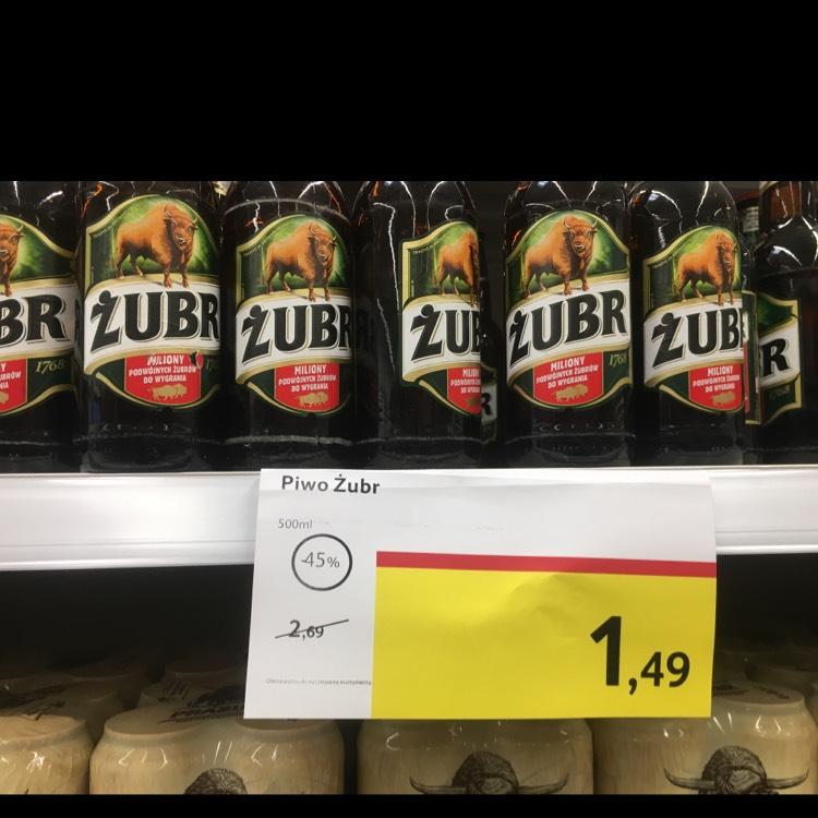 Żubr 500 ml butelka TESCO KATOWICE