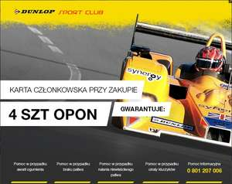 Karta członkowaska gratis za zakup 4 opon Dunlop lub Goodyear @ Goodyear Dunlop