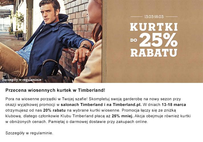 Rabat 20% na wiosenne kutki @ Timberland