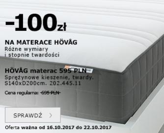 -100zł na materace HÖVÅG @ IKEA