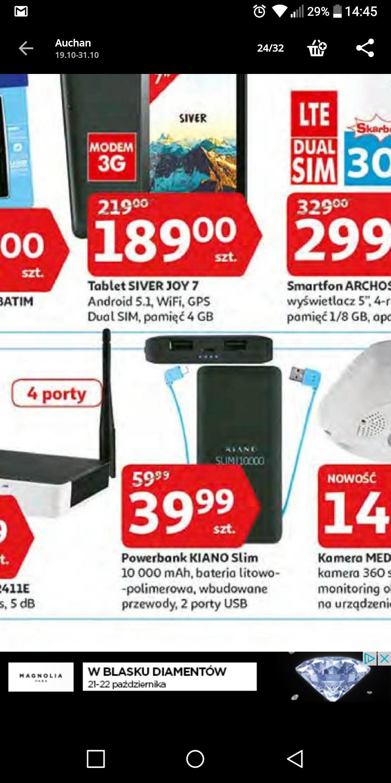 Powerbank Kiano Slim 10.000 mAh @ Auchan
