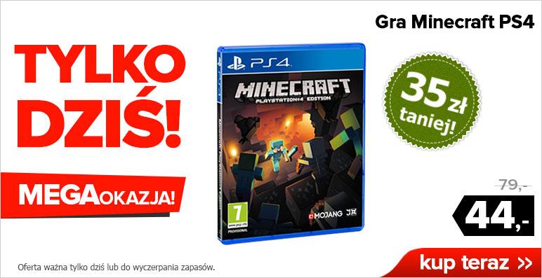 OFERTA DNIA! Minecraft PS4 za 44zł @ Agito