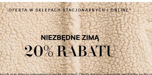 Rabat -20% na wybrane produkty @ H&M