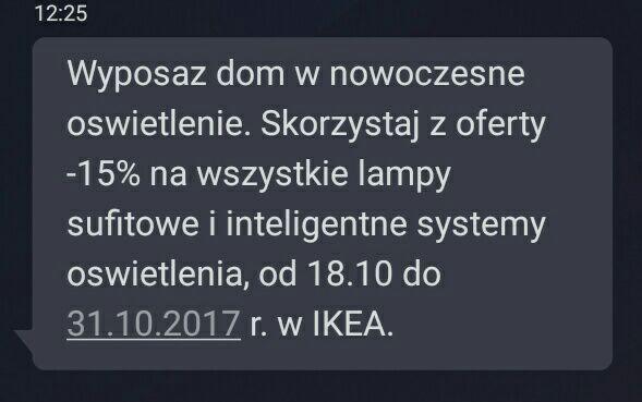 Ikea - 15% na oświetlenie 18.10-31.10
