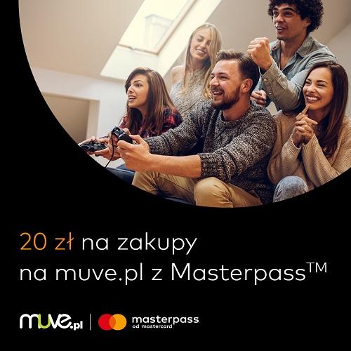 20zł na kolejne zakupy, za płatność Masterpass za zakup minimum 21zł @ Muve