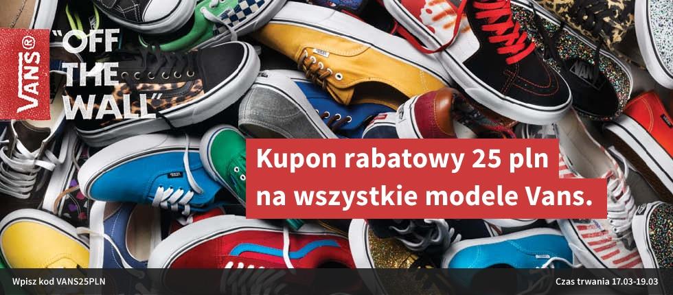 KOD RABATOWY 25zł na wszystkie modele Vans @ e-buty