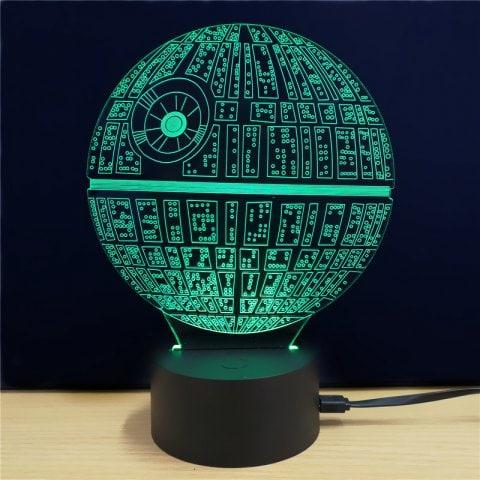 Lampa 3D - Gwiezdne Wojny: Gwiazda Śmierci za ~19zł @ Rosegal