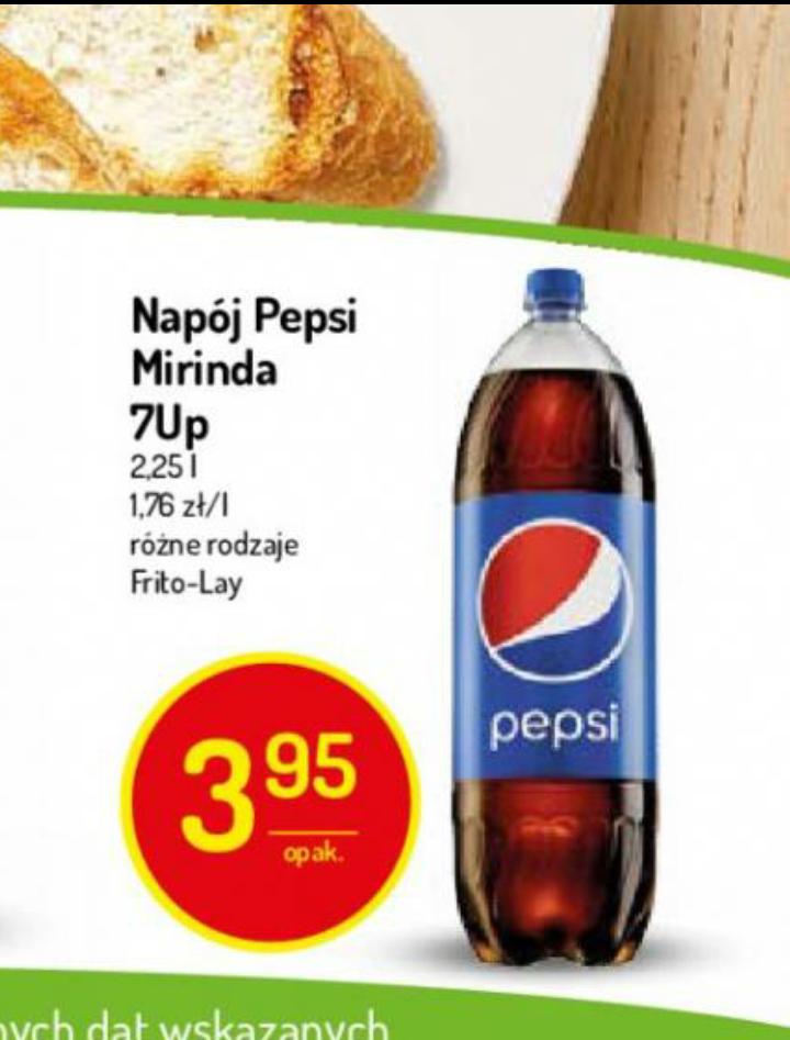 Pepsi/Mirinida/7Up za 3.95zł 2,25L Delikatesy Centrum