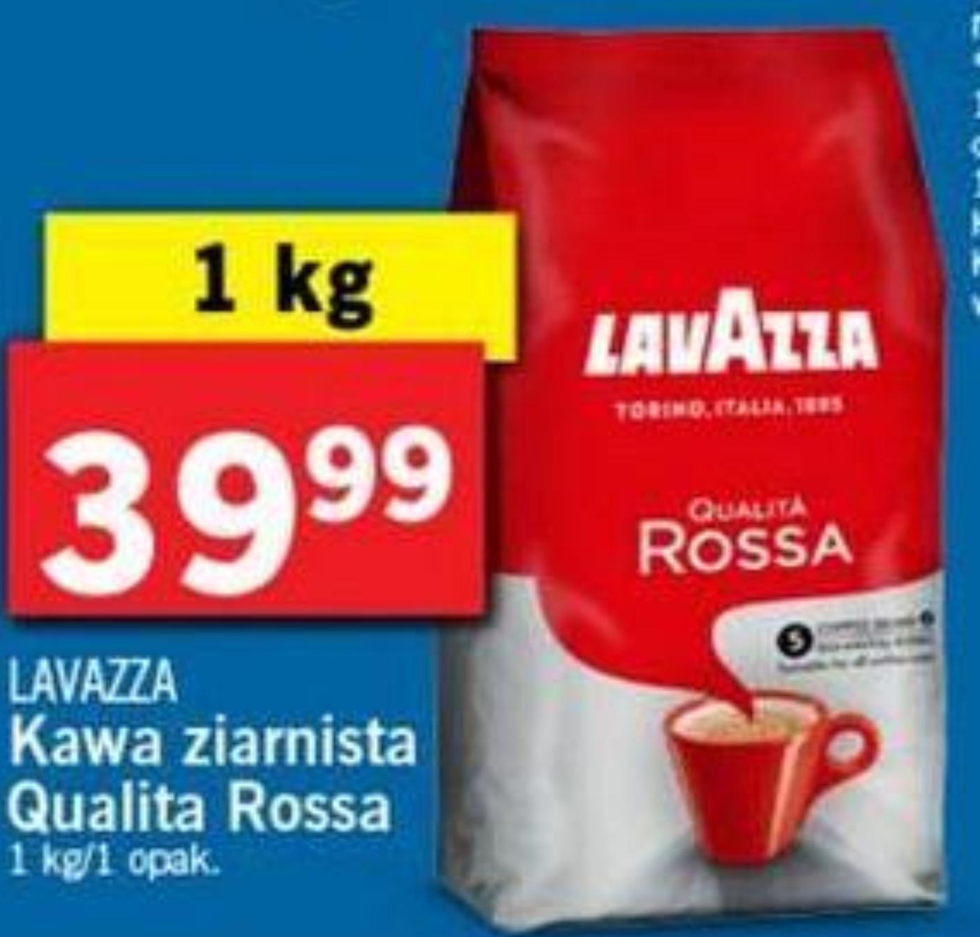 Kawa ziarnista Lavazza Qualita Rossa 1kg od 23.10 @Lidl