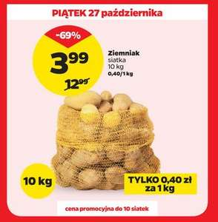Ziemniaki (siatka 10kg) 0,40 PLN/kg @netto 2017-10-27