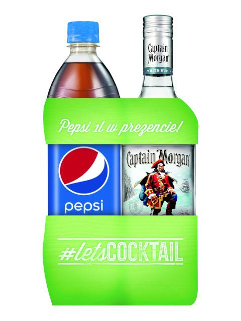 Captain Morgan White Rum 0,7l + 1l PEPSI Biedronka
