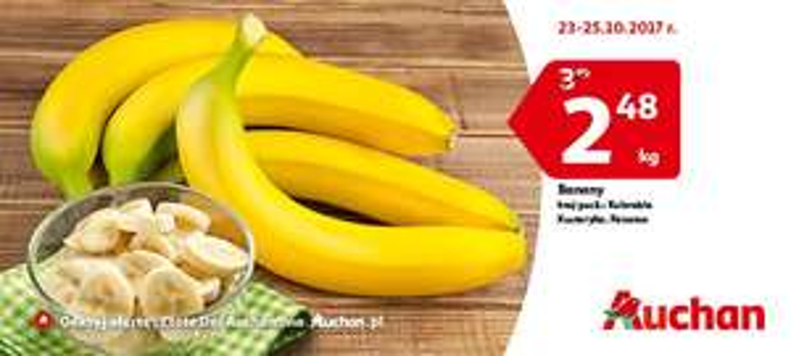 Banany 1kg za 2.48zl Auchan