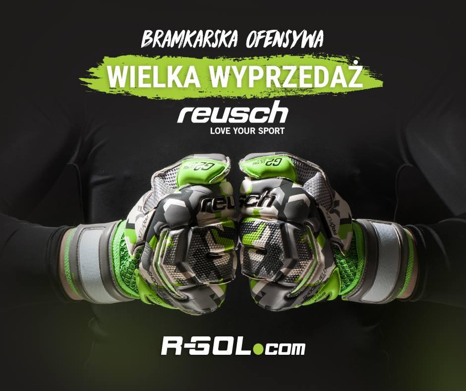 Wyprzedaż rękawic bramkarskich marki Reusch